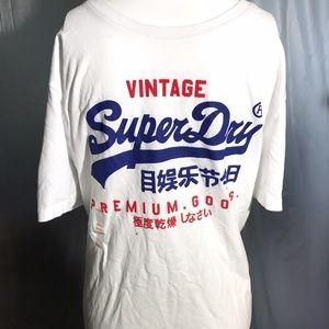 T-Shirt XXL S XL M L SUPERDRY Pale Pink SUPER RADIO Mens XXXL